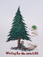 Load image into Gallery viewer, Waiting for the apple to fall under a pine tree Original Illustration
