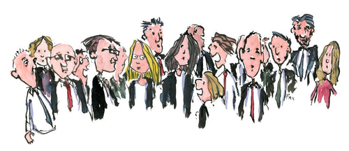 Group of business people illustration by Frits Ahlefeldt