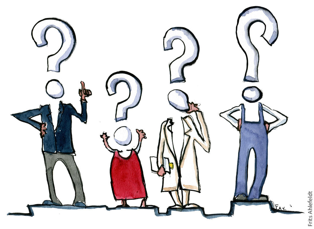 Di00024 Download Question mark people illustration
