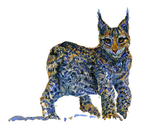 Original Tribal lynx Watercolor