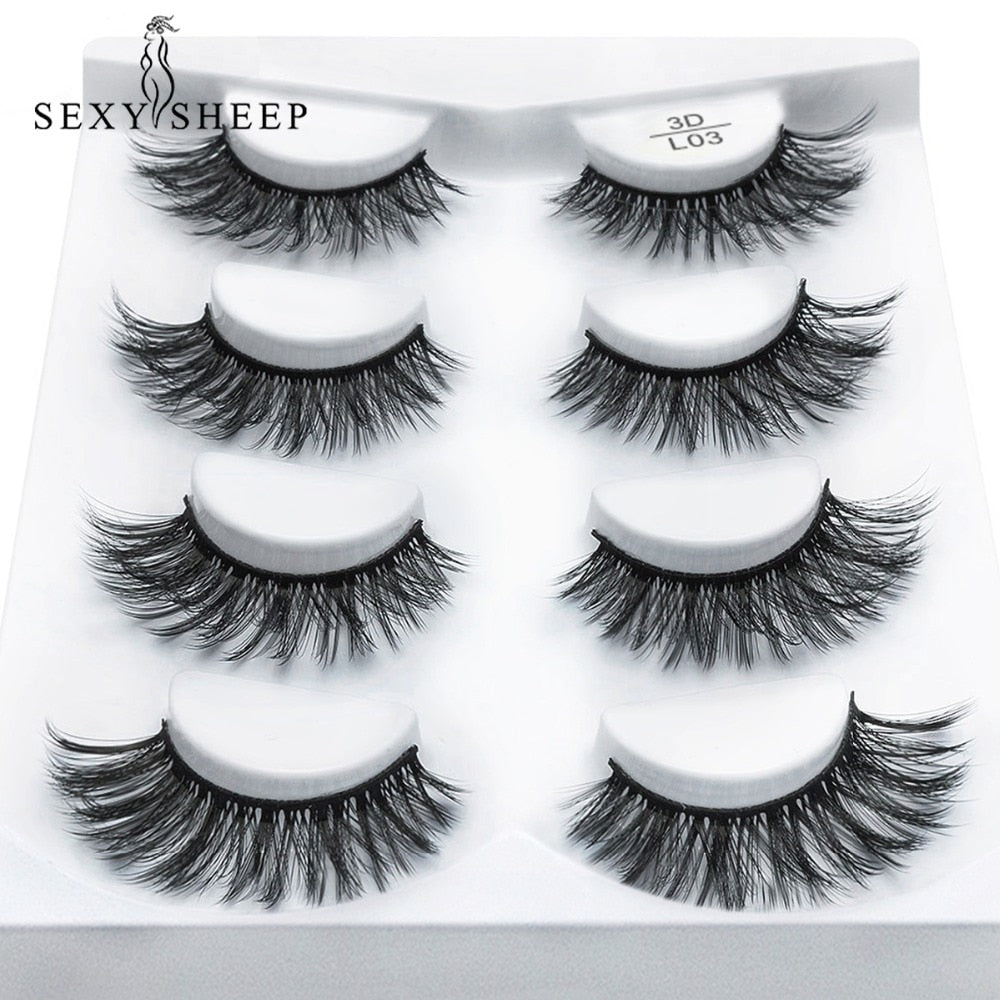 Mink 3D false eyelashes