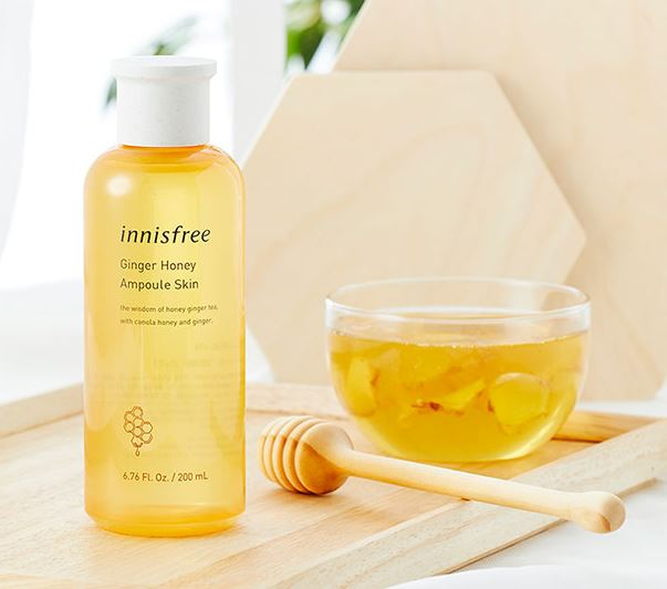 innisfree Ginger Honey Ampoule Skin 200ml - Beautihara