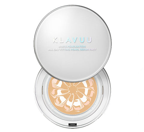 KLAVUU White Pearlsation All Day Fitting Pearl Serum Pact 12.5g (SPF50+, PA++++) (2 Colors)