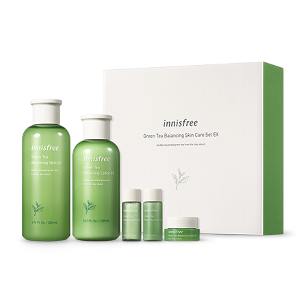 innisfree Green Tea Balancing Skin Care Set EX