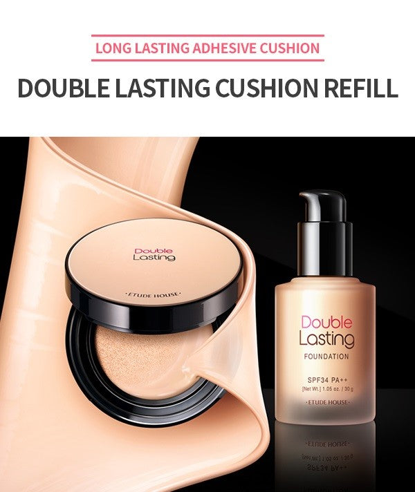 ETUDE HOUSE Double Lasting Cushion Refill 15g (SPF34/PA++) - Beautihara