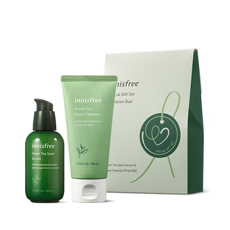 innisfree Special Gift Set Hydration Duo [Green Tea Seed Serum]