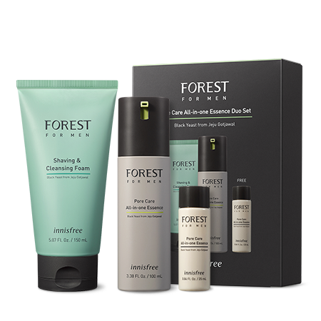 innisfree Forest For Men Pore Care All-in-one Essence Duo Set