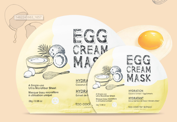 TOO COOL FOR SCHOOL Egg Cream Mask Combo (3 Type) - Beautihara