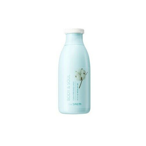 the SAEM BODY & SOUL Cotton Milk Body Lotion 300ml - Beautihara