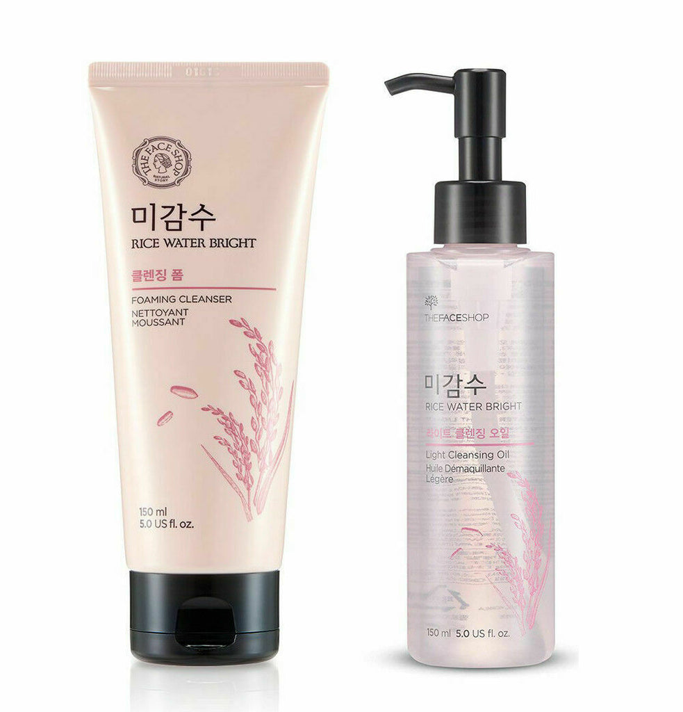 THE FACE SHOP Rice Water Bright Cleansing Set - Beautihara