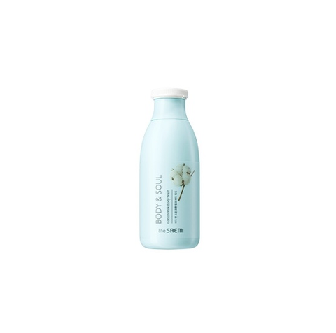 the SAEM BODY & SOUL Cotton Milk Body Wash 300ml - Beautihara