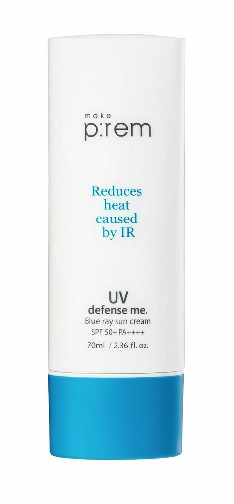 MAKE P:REM UV defense me. Blue ray Sun Cream 70ml - Beautihara