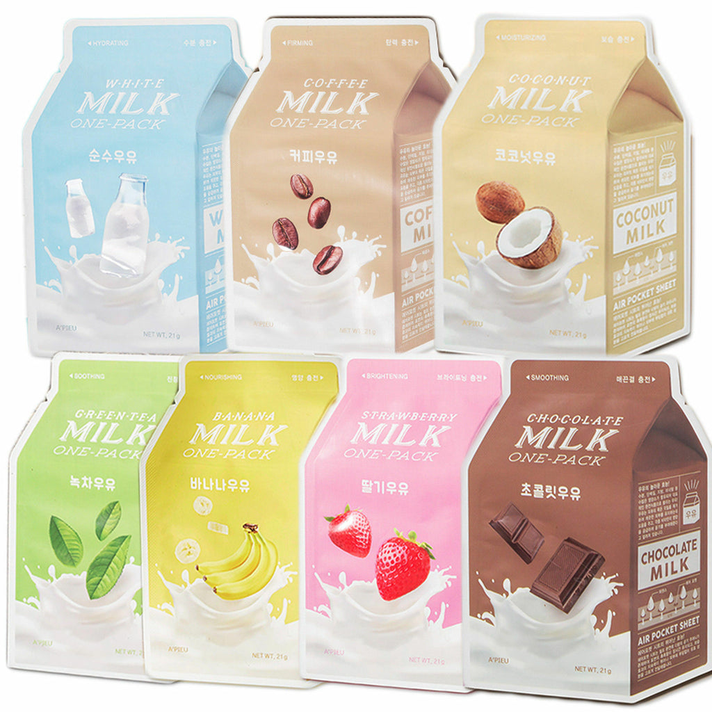 A'PIEU Milk One-Pack Mask Combo (7 Sheets) - Beautihara