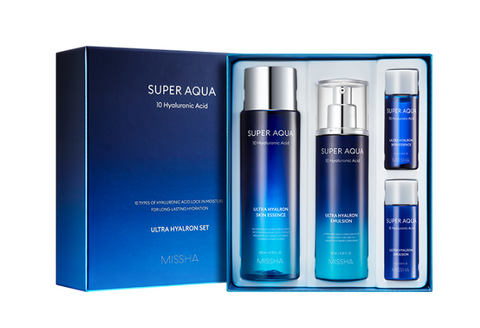 MISSHA Super Aqua Ultra Hyalron Set (2 Item) - Beautihara