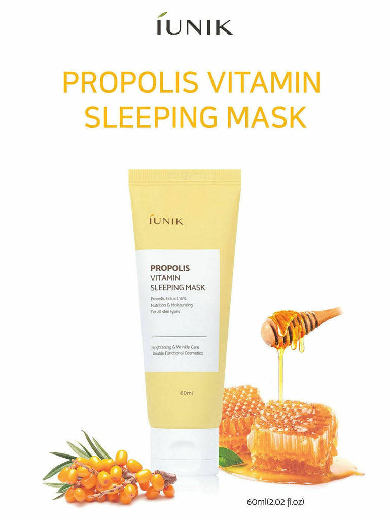 iUNIK Propolis Vitamin Sleeping Mask 60ml - Beautihara
