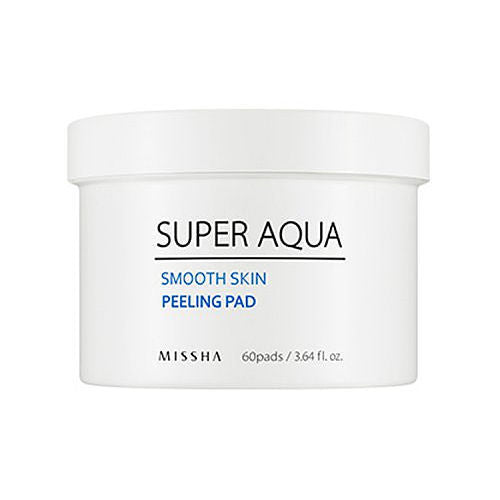 MISSHA Super Aqua Smooth Skin Peeling Pad (60 pcs) - Beautihara