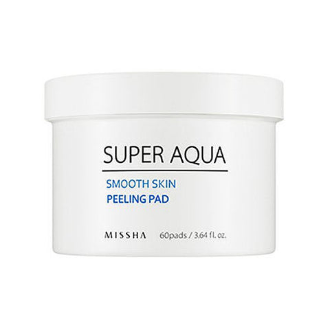 Super Aqua Smooth Skin Peeling Pad (60 pcs) - Beautihara
