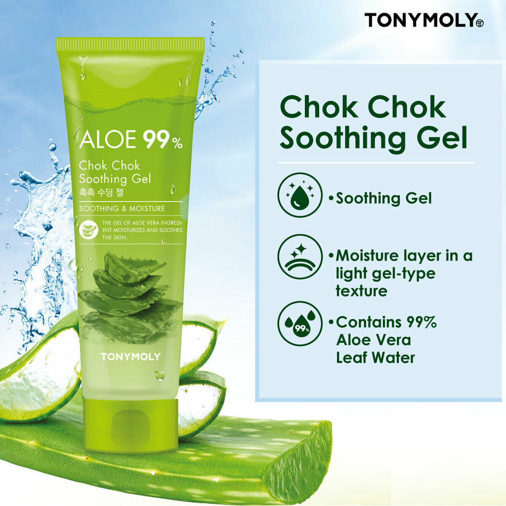 TONYMOLY Aloe 99% Chok Chok Soothing Gel - 250ml - Beautihara