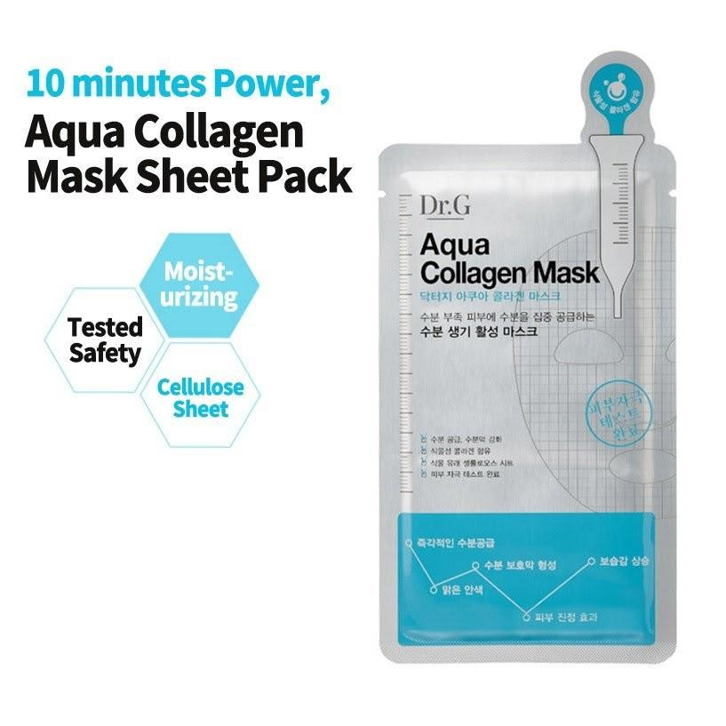 Dr.G Aqua Collagen Mask 25ml*5EA (5 Sheet) - Beautihara