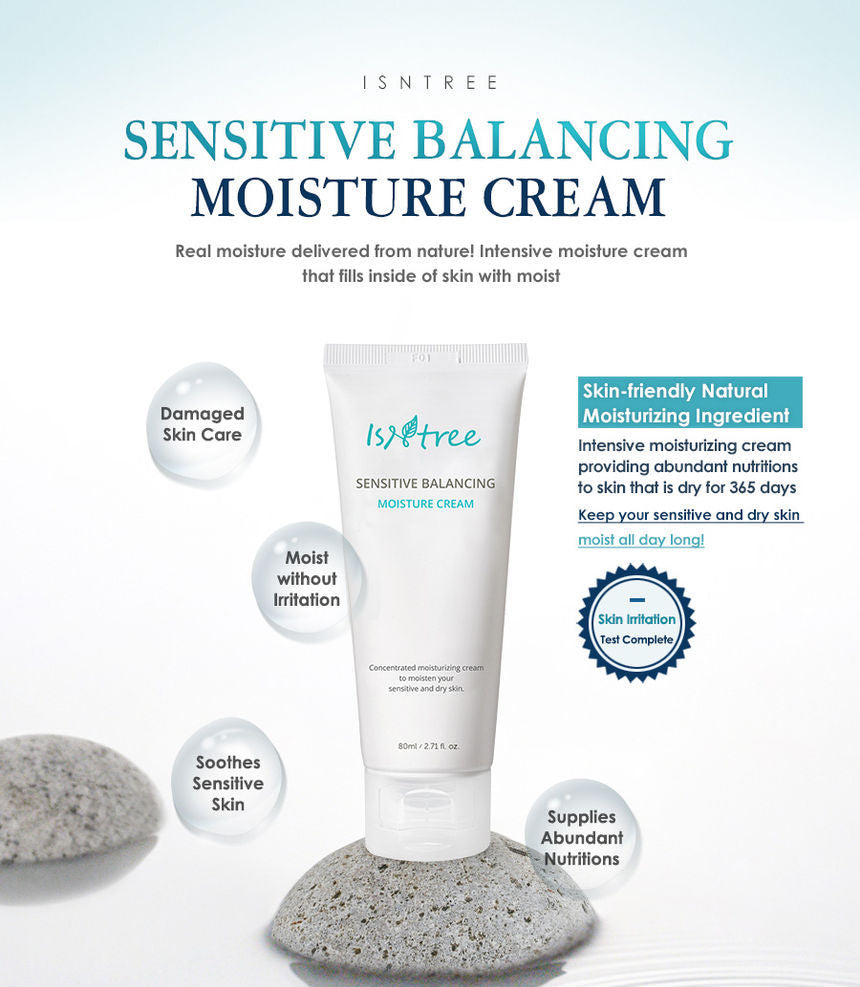 ISNTREE Sensitive Balancing Moisture Cream 80ml - Beautihara