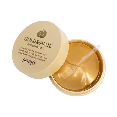 PETITFEE Gold & Snail Hydrogel Eye Patch (60 Patches) - Beautihara