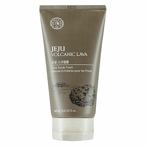 THE FACE SHOP Jeju Volcanic Lava Pore Scrub Foam 150ml - Beautihara