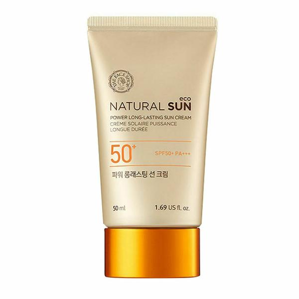 THE FACE SHOP Natural Power Long Lasting Sun Cream SPF50+ PA+++ 50ml - Beautihara