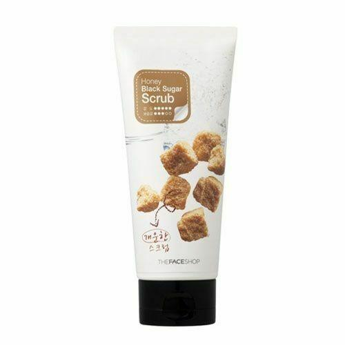 THE FACE SHOP Smart Peeling Honey Black Sugar Scrub 120ml - Beautihara