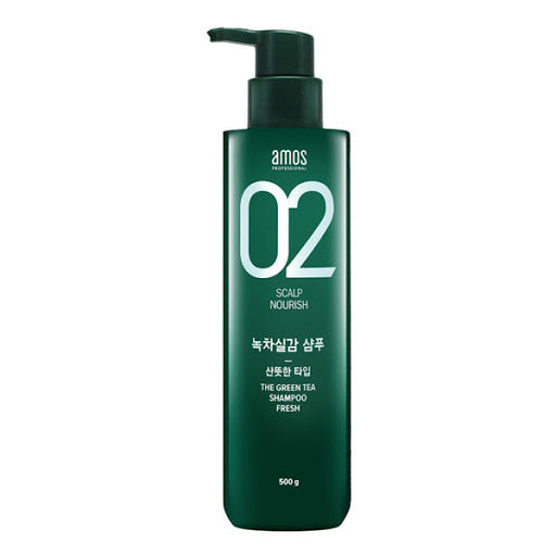 AMOS Feel the Green Tea Shampoo - 80g / 500g  Oily Scalp