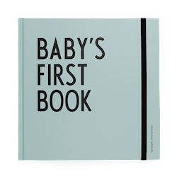 Design Letters Baby's First Book Blå