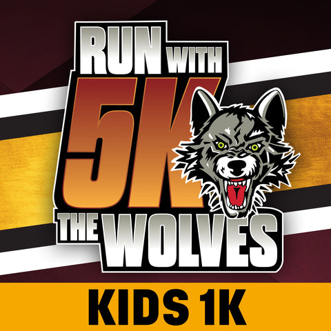 Run With The Wolves Virtual 5K - Kids 1K Registration