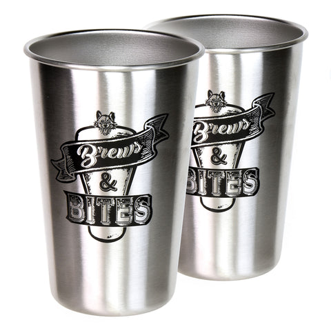 Brews & Bites Pint Glass Set