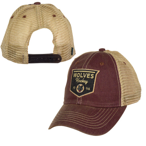 Burgundy Rescue Trucker Hat