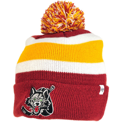 '47 Burgundy/Gold Cuffed Knit Hat