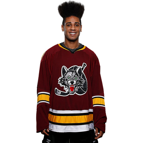 CCM Authentic Burgundy Jersey