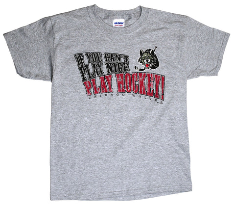 Youth Play Nice Gray Tee