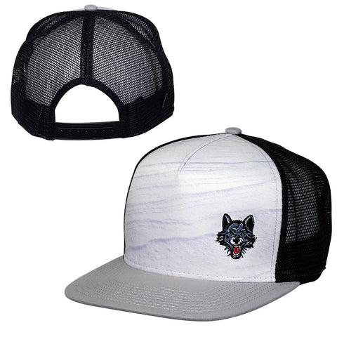 Snow High Crown Flatbill Hat
