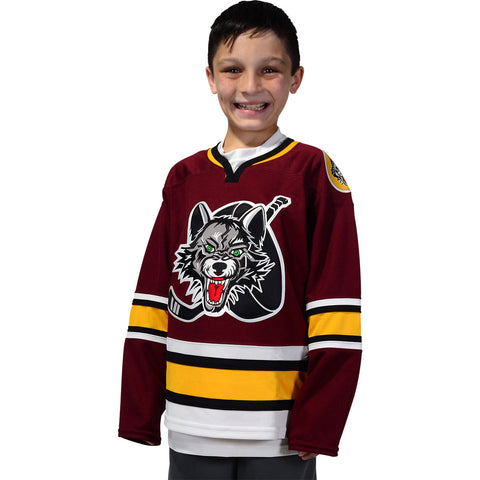 CCM Youth Burgundy Jersey