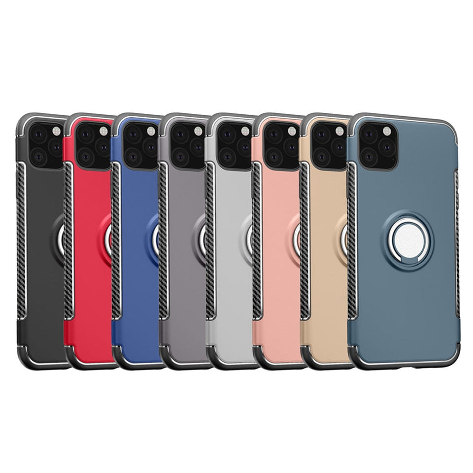 Luxury Car Holder Shockproof Ring Cases & Covers for iPhone 11 | 11 Pro | Max