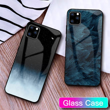 Load image into Gallery viewer, G-FAITH Feather Print Glass Case Starry Sky Design For iPhone 11 | 11Pro | Max | X | XS | Max | Xr