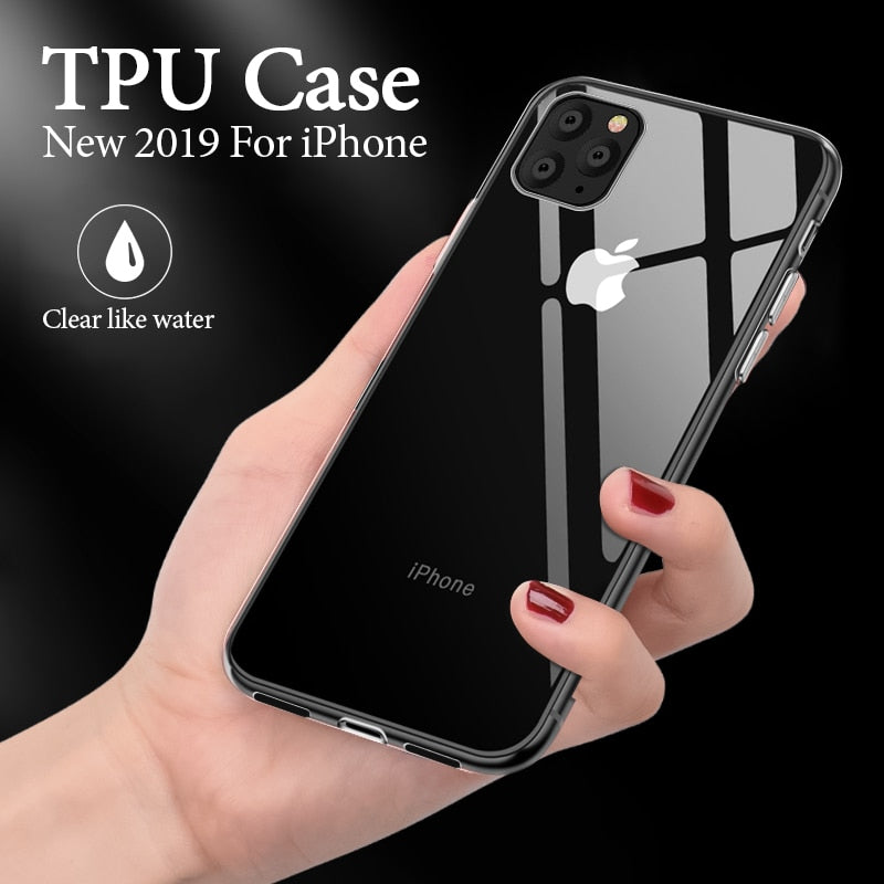 Premium Crystal Clear Soft Silicone Case & Cover for iPhone 11 | 11 Pro | Max | X | XS | Xr