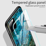 Marble Grain Gradient Hard Tempered Glass Case Cover for iPhone 11 | 11 Pro | Max