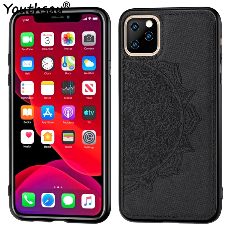 Luxury Cloth Fabric Anti-knock Case For iPhone 11 Cover For iPhone 11 2019 Case 6.1