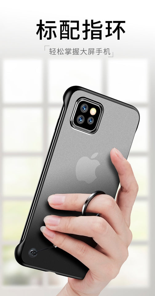 Premium Quality Hard PC Transparent Slim Matte Cover Case for iPhone 11 | 11 Pro | Max