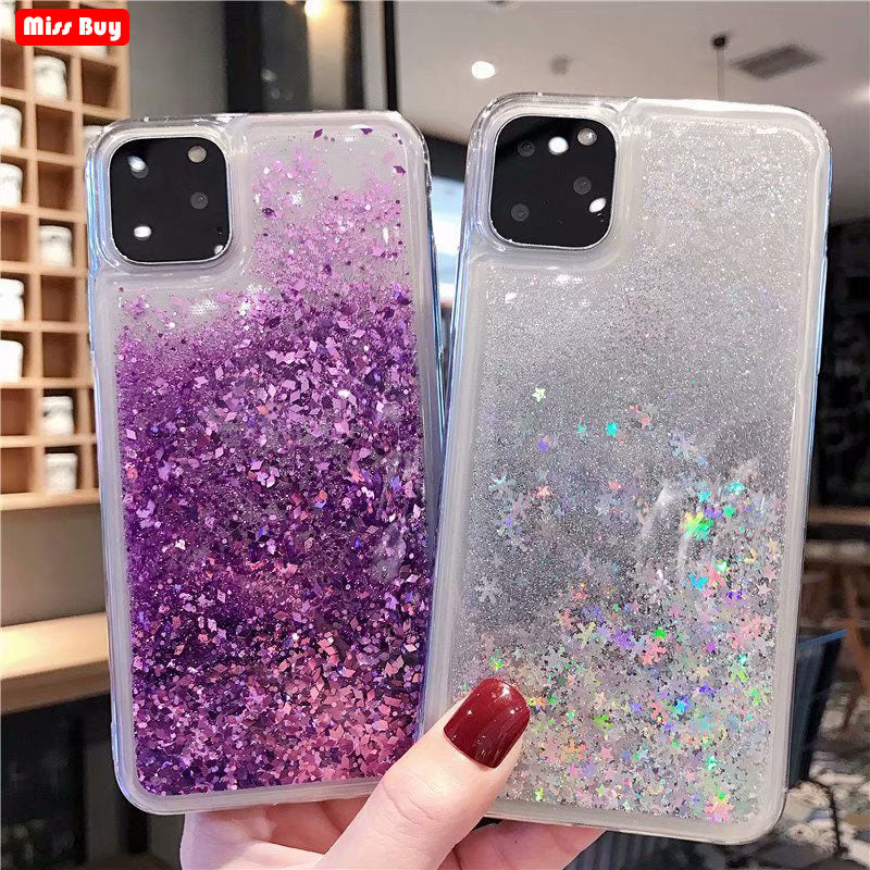 Premium Luxury Glitter Liquid Quicksand Star Case For iPhone 11 | 11 Pro | Max