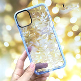 3D Diamond Pattern Transparent Back Cases Cover For iPhone 11 | 11 Pro | Max | X | XS | MAX | XR