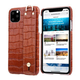 iPhone 11 | 11 Pro | Max Genuine Leather Wristband Case, Premium Cover 2019
