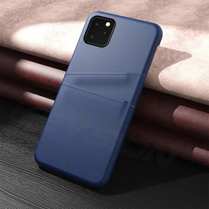 KEYSION  PU Leather Phone Case For iPhone 11 2019 Case With Wallet Card Slots Back Capa For iPhone XI XI Max XR2 Fundas New 11