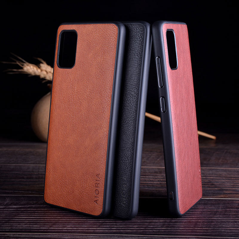 Leather Skin case for Samsung Galaxy S10 | S20 Plus | Ultra | S10e | Note 9 | 10 Lite