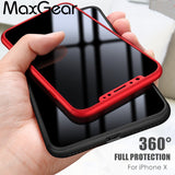 MaxGear 360 Degree Full Protection Luxury Ulta Thin Case + Free Film For Apple iPhone